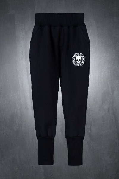 ByTheR Skull Logo Over Banding Jogger Pants