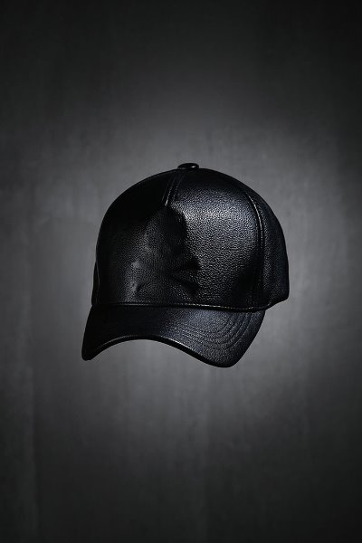 ByTheR Shadow Skull Leather Snapback Black