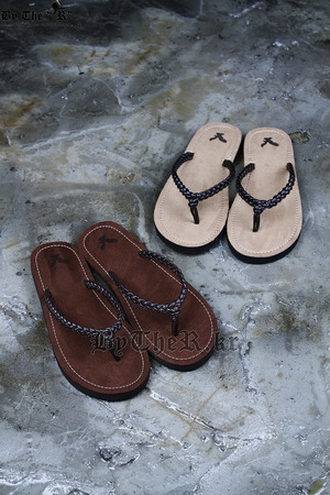 Eagle Braided Leather Band Flip Flop