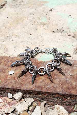 ByTheR Chrome Metal Dragon Claw Bracelet