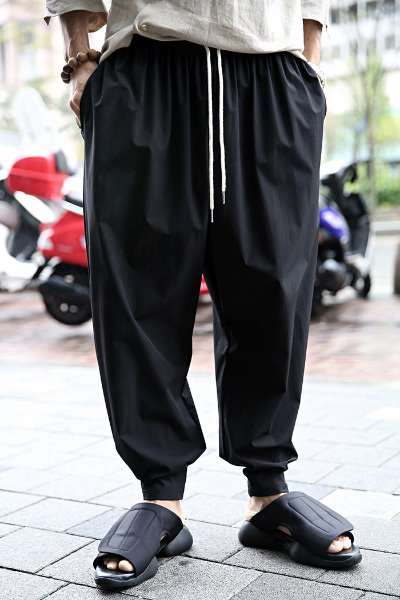 Velcro soft wide hem trousers